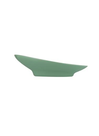 Kütahya Porselen Aura 20 cm Çukur Tabak Yesil Yeşil